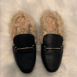 A New Day (Target) Faux Fur Backless Loafer 6.5